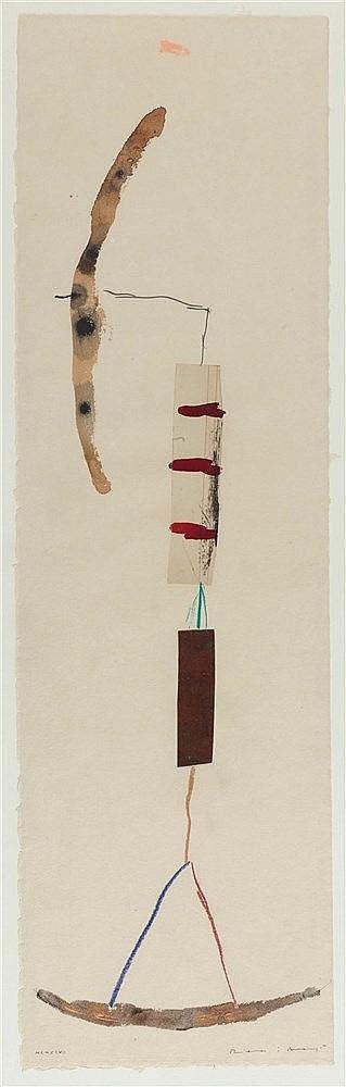 JOSEP RIERA I ARAGO (NE EN 1954) SANS TITRE, 1997 Collage, métal, encre et