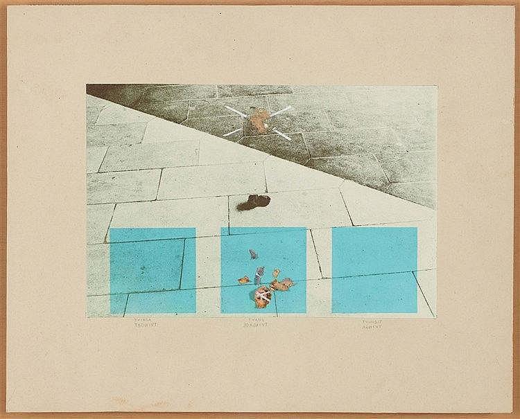 ERIK DIETMAN (1937-2002) SANS TITRE, 1969-1970 Papiers collés, collage et m