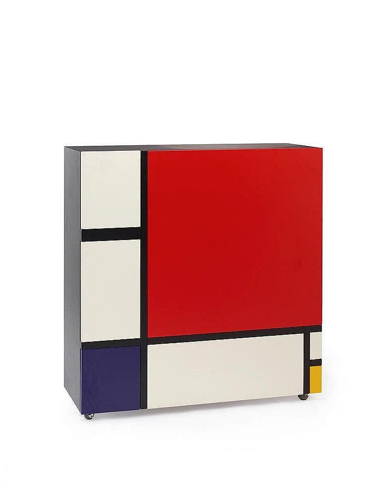 shiro kuramata 1934 1991 hommage a mondrian meuble de ra. Black Bedroom Furniture Sets. Home Design Ideas