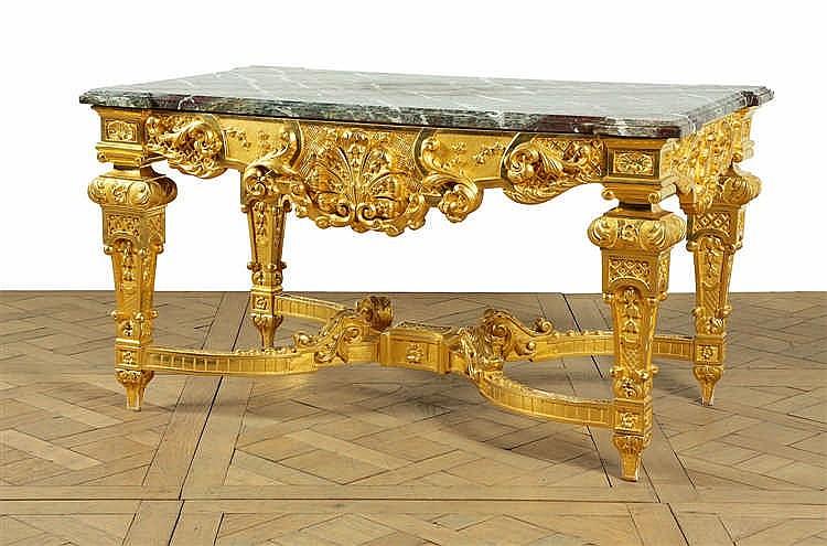 Table de milieu de forme rectangulaire en bois redor les c - Table bois rectangulaire ...