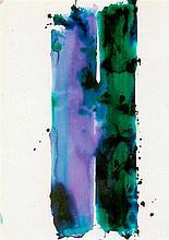 SAM FRANCIS (1923-1994)  SANS TITRE (SF78-98), 1978  Acrylique sur papier