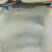OLIVIER DEBRE (1920-1999)  VIOLETTE PALE D'ORAGE  (OU TRAIT ROUGE D'ORAGE D