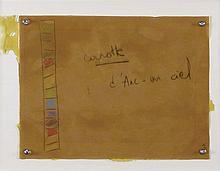 FABRICE HYBER (NE EN 1961) CAROTTE ARC EN CIEL, 1991 Fusain et pastel sur