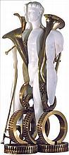 ARMAN (1928-2015)  OEDIPUS REX, 1996  Transculpture  Marbre et bronze à pat