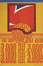 ARTHUR AESCHBACHER (NE EN 1923)  FOND JAUNE ROUGEMONT DAMASE, 1970  Affiche