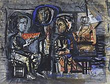 ANTONI CLAVE (1913-2005)  SANS TITRE  De la série La pastèque  Gouache et e