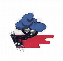 CLAUDE GILLI (1938-2015)  PAYSAGE 2, 1992  Acier soudé peint  80 x 100 x 25