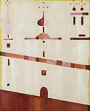 JERZY NOWOSIELSKI (1923-2011)  COMPOSITION, 1989  Huile sur toile  Signée e