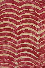 JEAN-PIERRE PINCEMIN (1944-2005)  ARCS ROUGES, 1968  Huile sur toile de mat