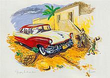 PEDRO ALVAREZ (1967-2004) SANS TITRE De la série Happy Landaluze Aquarelle