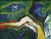BENGT LINDSTROM (1925-2006)  L'EVEIL DE LA MONTAGNE  Huile sur toile   S, Bengt Lindstrom, €10,000