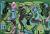 GEORGE LILANGA DI NYAMA (1934-2005)  SANS TITRE, 1999   Acrylique sur toi, George Lilanga, €1,000