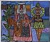 ROBERT COMBAS (NE EN 1957)  LE JOUEUR DE SAXOFORT, 2003   Acrylique sur, Robert Combas, €35,000