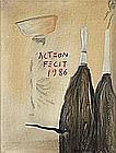 JEAN-MICHEL ALBEROLA (NE EN 1953)  SANS TITRE, 1986   Pastel et fusain su