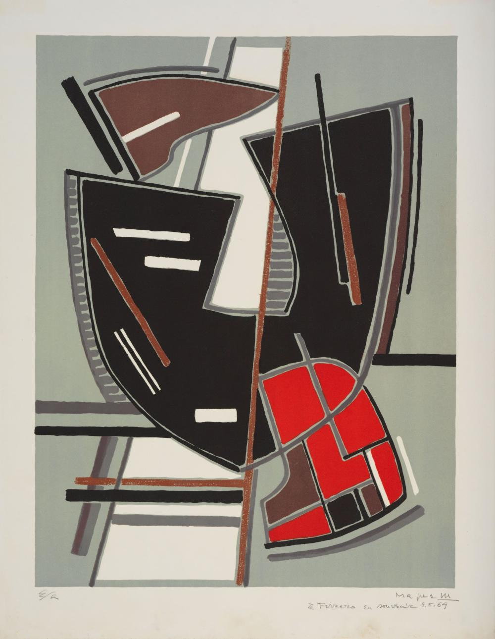 Couleur Avec Du Rouge lot 102: alberto magnelli (1888-1971) composition avec du rouge, 19