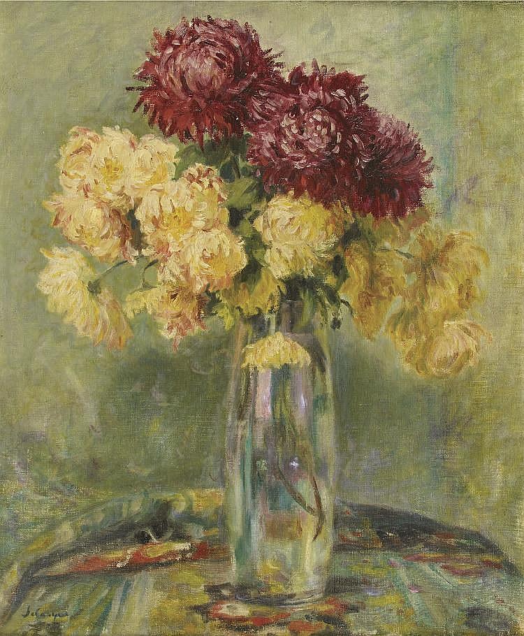 henri lebasque 1865 1937 vase de chrysanthemes huile sur t. Black Bedroom Furniture Sets. Home Design Ideas