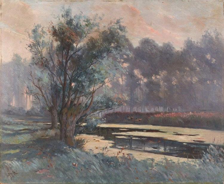 THEODORE CHARLES BALKÉ (1875-1951) LA MARE DE SAINT JULIEN D