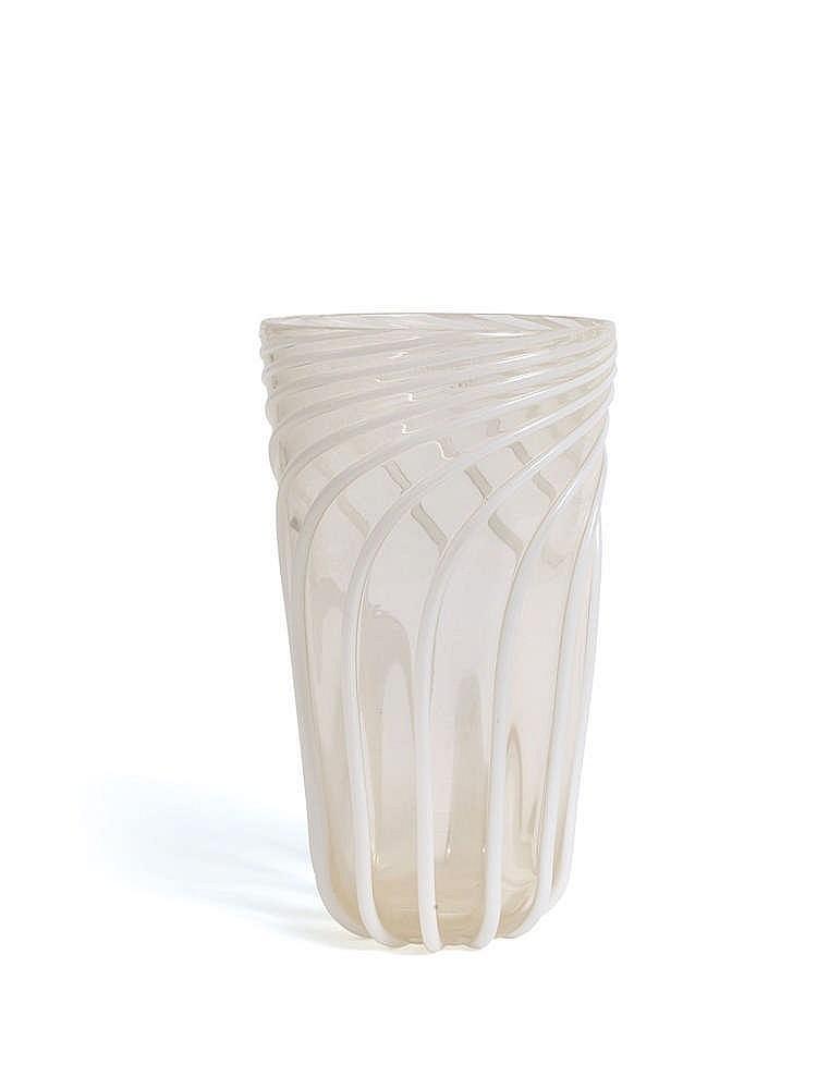 archim de seguso 1909 1999 vase en verre souffle. Black Bedroom Furniture Sets. Home Design Ideas