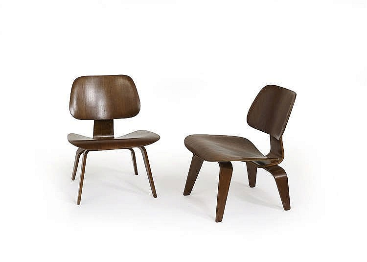 charles et ray eames paire de chaises lcw