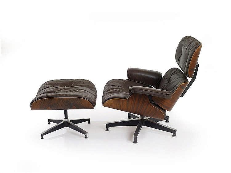 Charles et ray eames fauteuil et ottoman mod les 670 671 for Charles et ray eames fauteuil