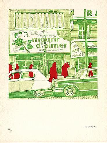 262. GERARD FROMANGER (NE EN 1939) MOURIR D'AIMER, 1973 Lithographie e
