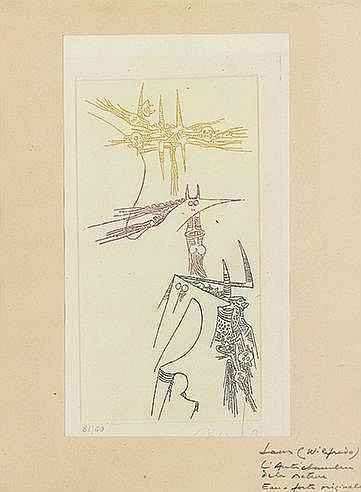 WIFREDO LAM (1902-1982) L'ANTICHAMBRE DE LA NATURE, 1966 (Tonneau & Ry