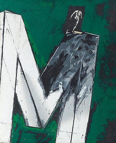 VLADIMIR VELICKOVIC (NE EN 1935) L'HOMME DE MUYBRIDGE, CIRCA 1988 Séri