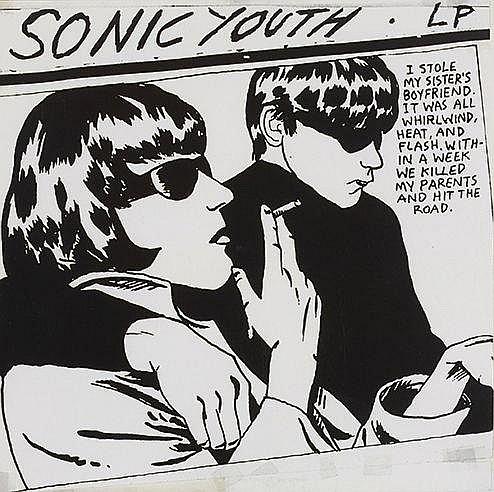 RAYMOND PETTIBON (NE EN 1957) SONIC YOUTH Pochette de disque réalisé p