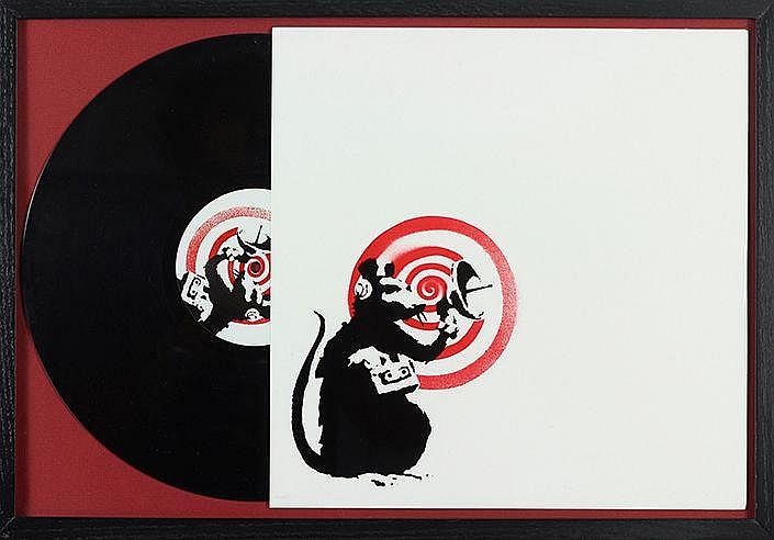 BANKSY (NE EN 1974) RADAR RAT (2008) Pochette Vinyle Impression offset