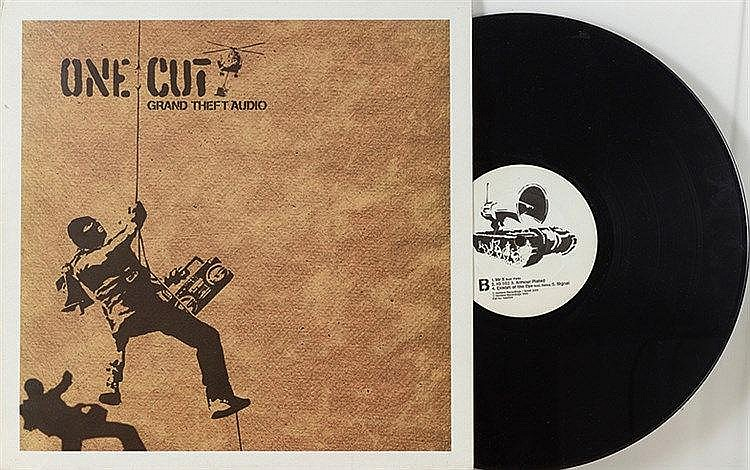 BANKSY (NE EN 1974) ONE CUTE / GRAND THEFT AUDIO, 2000 Pochette Vinyle