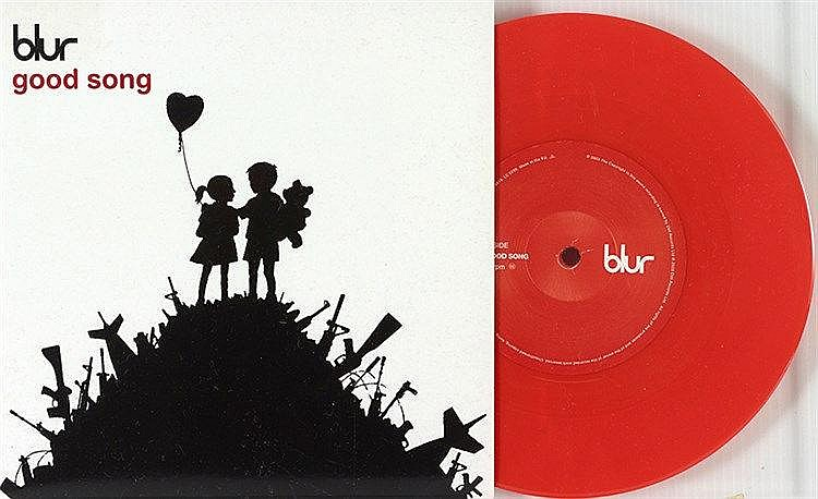 BANKSY (NE EN 1974) GOOD SONG + OUT OF TIME, 2003 Lot de 2 pochettes v