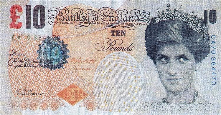 BANKSY (NE NE 1974) BANKSY OF ENGLAND Billet de banque sérigraphié (re