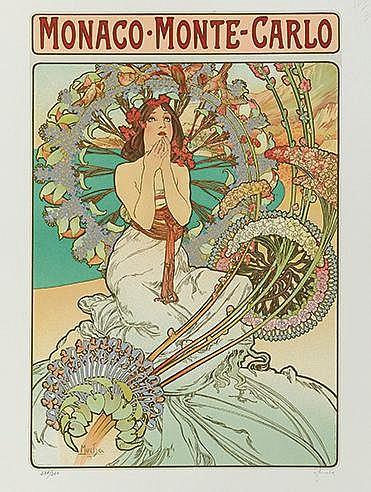 D'APRES ALPHONSE MUCHA (1860-1939) CATALOGUE RAISONNE, 1986 (ZODIAQUE,