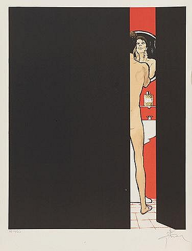 RENE GRUAU (1909-2004) EAU SAUVAGE, 1990 Lithographie en couleurs sur