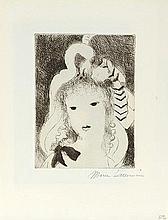 MARIE LAURENCIN (1883-1956) PORTRAIT DE FEMME Eau forte et pointe sèch