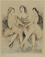 MARIE LAURENCIN (1883-1956) L'ANGE BLEU, 1931 Eau-forte et pointe sèch