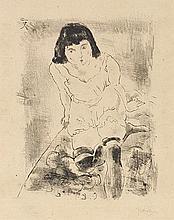JULES PASCIN (1885-1930) LE LEVER, 1925 Lithographie en noir sur vélin