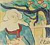 EMILE BERNARD (1968-1941) LA CUEILLETTE DES POMMES, 1889 (Morane, 17), Emile Bernard, €4,000
