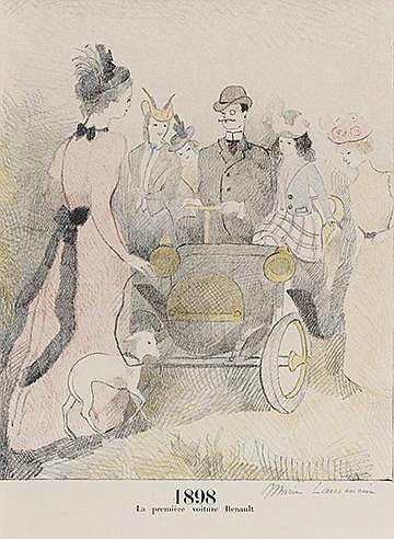 MARIE LAURENCIN (1883-1956) LA PREMIERE VOITURE RENAULT, 1936 (Marches