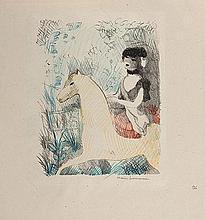 MARIE LAURENCIN (1883-1956) LA CAVALIERE, 1926 (Marchesseau, 105) Plan