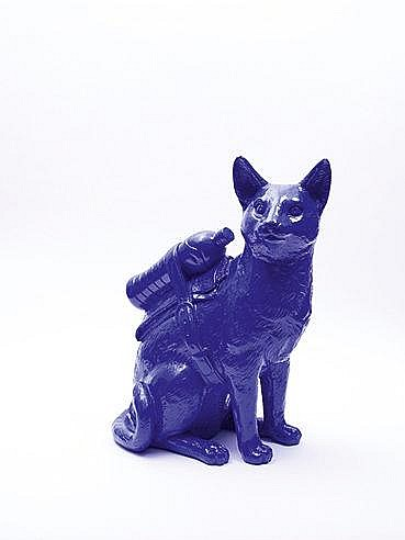 WILLIAM SWEETLOVE (NE EN 1949) CLONED CAT WITH PET BOTTLE BLUE Multipl