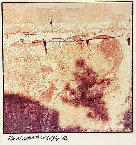 ROBERT RAUSCHENBERG (1925-2008) STUDY FOR CHINESE SUMMERHALL, 1983 Imp