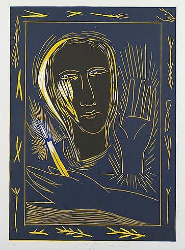 MIMMO PALADINO (NE EN 1948) DIAMANTI, 1991 (Di Martino, 167) Linogravu