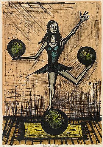 BERNARD BUFFET (1928-1999) MADEMOISELLE X, 1968 (Sorlier, 147) Lithogr