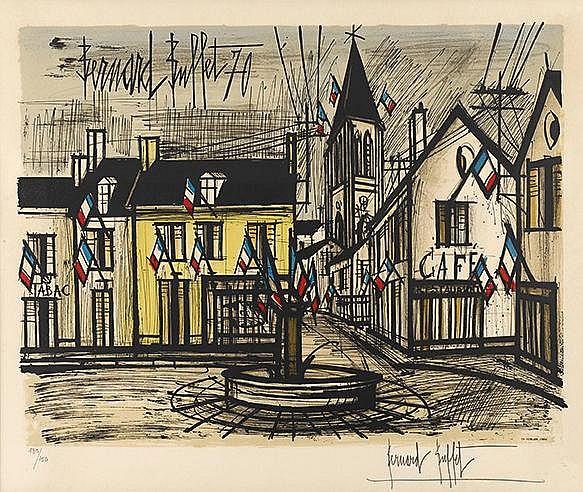 BERNARD BUFFET (1928-1999) QUATORZE JUILLET, 1970 (Sorlier, 317) Litho