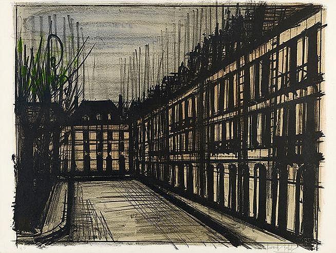 BERNARD BUFFET (1928-1999) LA PLACE DES VOSGES, 1962 (Sorlier, 32) Lit