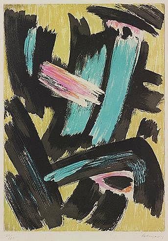 GERARD SCHNEIDER (1896-1986) SANS TITRE, CIRCA 1960 Eau forte et aquat