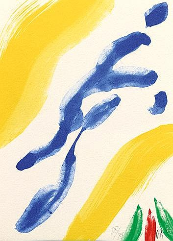 BRAM VAN VELDE (1895-1981) SANS TITRE Lithographie en couleurs sur vél