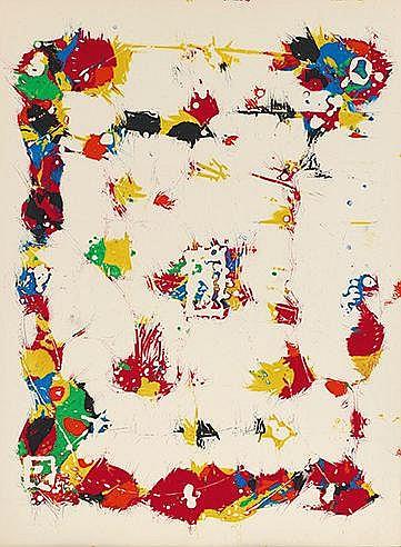 SAM FRANCIS (1923-1994) SANS TITRE, SF 89 S Monotype sur Arches Epreuv
