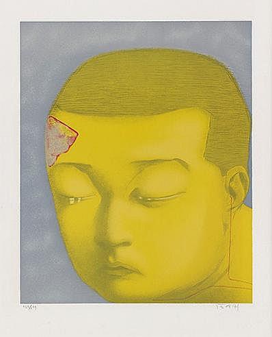 ZHANG XIAOGANG (NE EN 1958) FANTASY, 2002 Lithographie en couleurs Sig